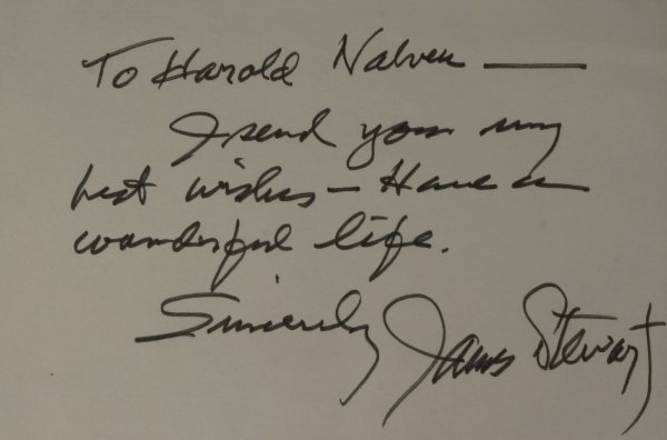 712: Actor JAMES STEWART - Autograph Note Signed