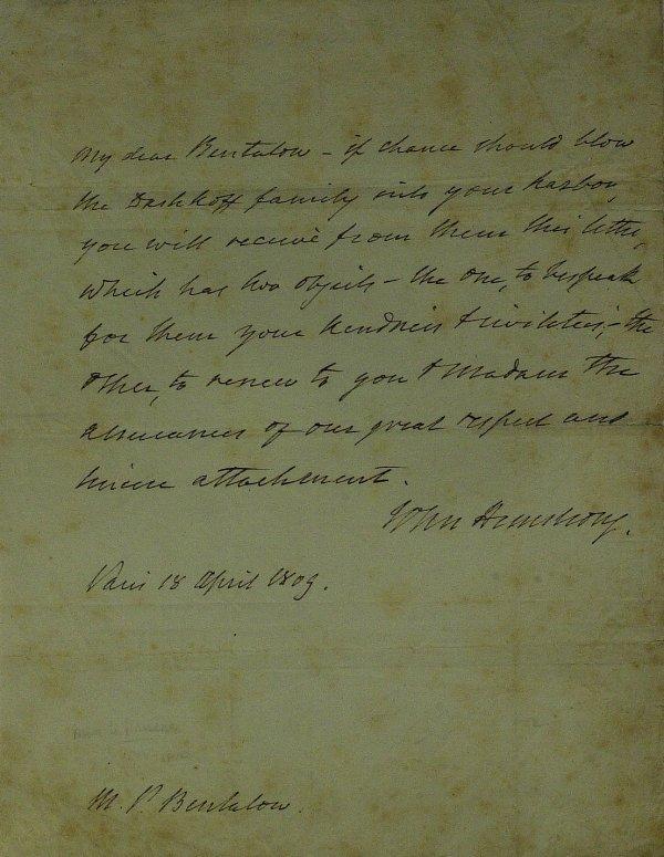 1: Rev War Gen JOHN ARMSTRONG - Autograph Ltr Signed