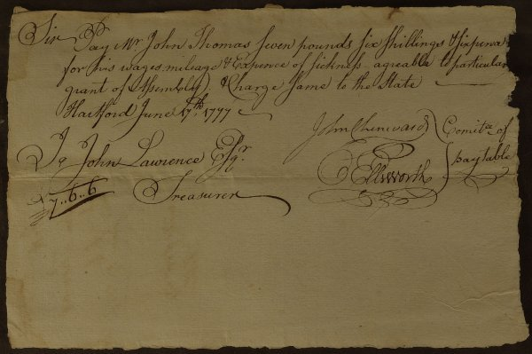 9: OLIVER ELLSWORTH Chief Justice - Document Signed