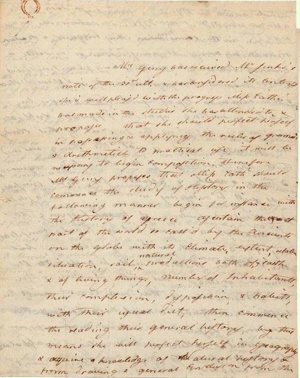 11: Elbridge's Wife ANN GERRY - Autograph Ltr Signed