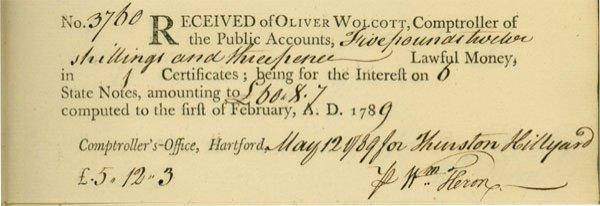 14: Rev War Spy WILLIAM HERON - Doc Signed