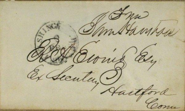 16: Texas Pres SAM HOUSTON - Framed Signature