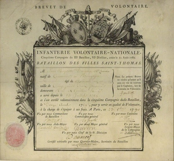 22: General LAFAYETTE - Document Signed and Framed