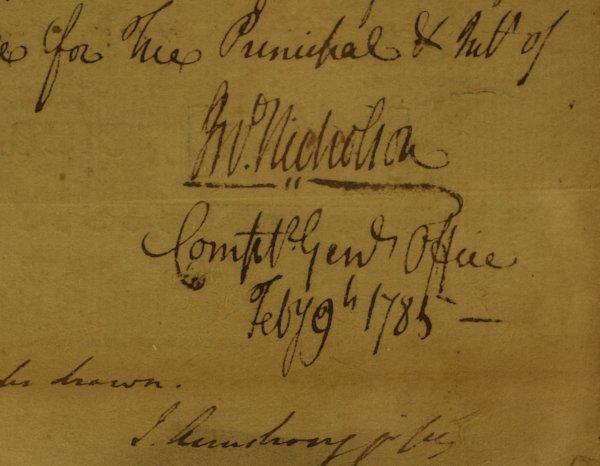 24: PA Politician JOHN NICHOLSON - Rev War Doc Signed