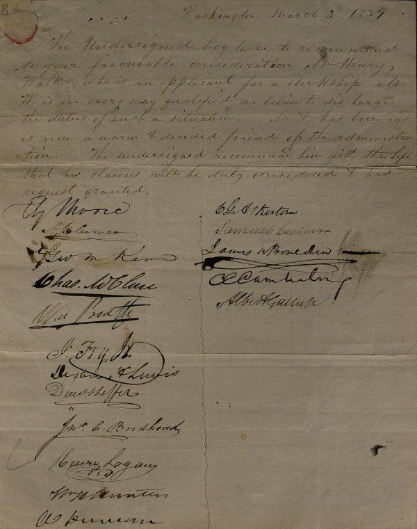 47: President JAMES K POLK - Recommendation Signed