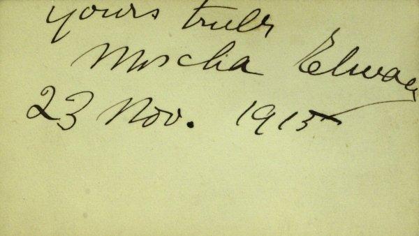 601: Violinist MISCHA ELMAN - Card Signed
