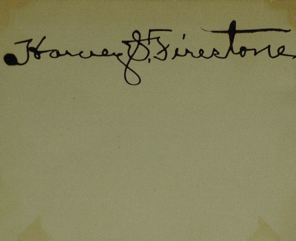 629: Tire Maker HARVEY FIRESTONE - Card Signed