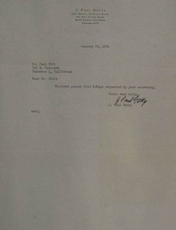 632: Oil Tycoon J Paul Getty - Typed Ltr Signed