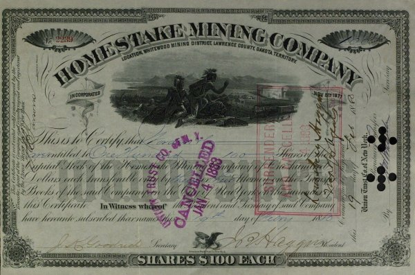 634: Mining Mogul JAMES HAGGIN - Stock Cert Signed