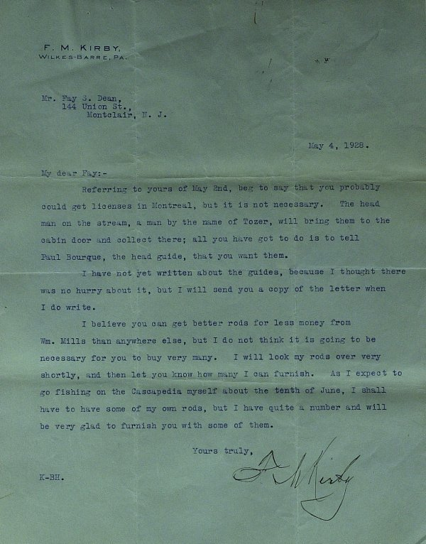 638: Woolworth's Founder FRED KIRBY - Typed Ltr Signed