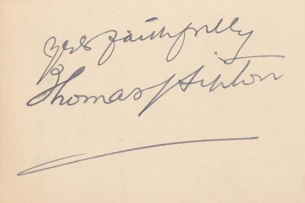 639: Tea Merchabt THOMAS LIPTON - Card Signed