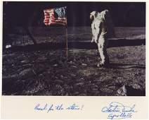 689: Moonwalker CHARLIE DUKE - NASA Lunar Photo Signed