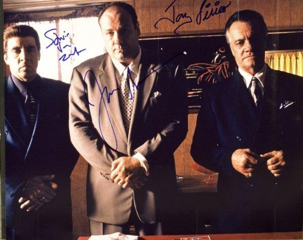 806: The Sopranos-Cast Photo Signed, Tony, Paulie & Sil