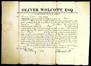 Secy Treasury OLIVER WOLCOTT, JR - Appointment