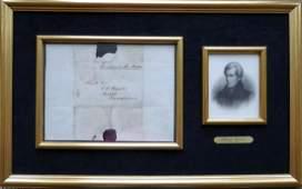 7th President ANDREW JACKSON - Framed FF Envelope