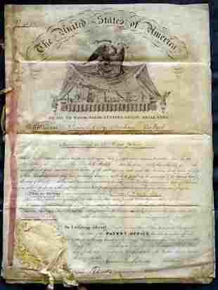 15th President JAMES BUCHANAN - Patent Signed