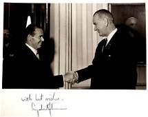 36th President LYNDON B. JOHNSON - Photo Signed