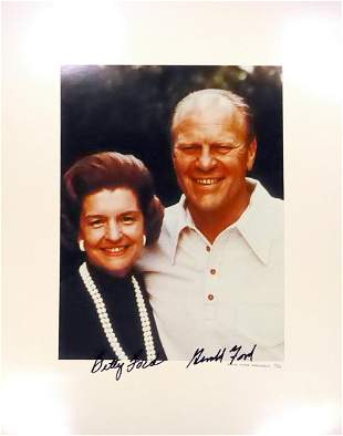 38th Pres GERALD R. & 1st Lady BETTY FORD - Photo
