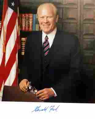 38th President GERALD R. FORD - Photo Signed