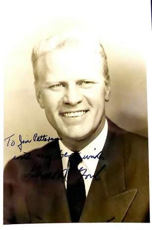 38th President GERALD R. FORD - Youthful Photo Signed