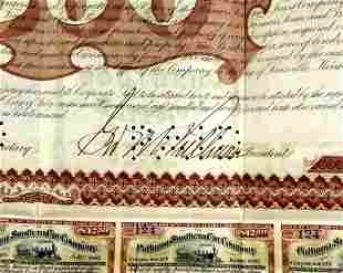 Industrialist GEORGE M. PULLMAN - Stock Certificate