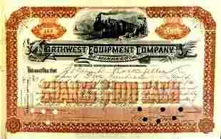Oilman JOHN D.ROCKEFELLER - Stock Cert Endorsed