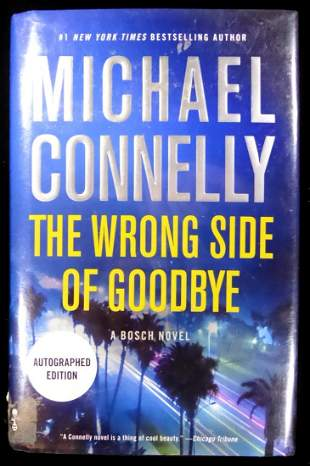 Author MICHAEL CONNELLY - His Book Signed, 1st Ed