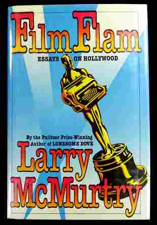 Author LARRY McMURTRY - His Book Signed, 1st Ed