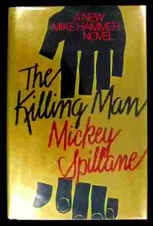 Author MICKEY SPILLANE - His Book Signed, 1st Tr Ed