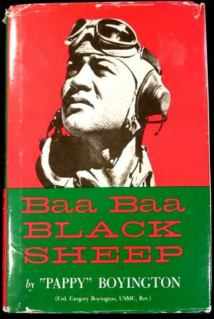 Black Sheep Ace PAPPY BOYINGTON - His Book Signed