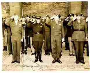 General OMAR N BRADLEY - VE Day Photo Signed