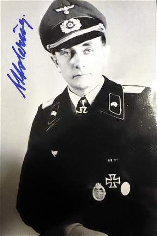 German Tank Commander OTTO CARIUS - Photo