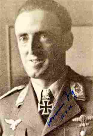 Luthwaffe Ace HERMANN GRAF - Photo Siged