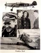German Air Ace GUNTHER RALL - Photo Siged