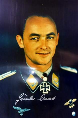 German Air Ace GUNTHER STACK - Photo Signed