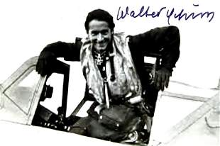 German Air Ace WALTER SCHUCK - Photo Signed