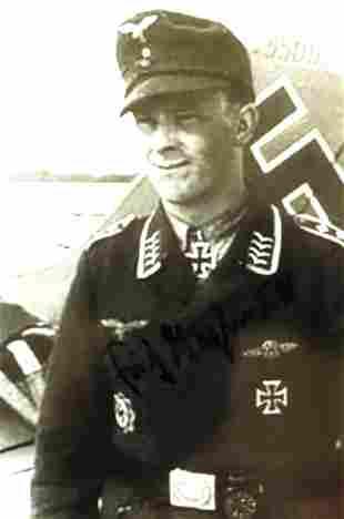 General, Air Ace FRITZ TEGTMEIER  Photo Signed
