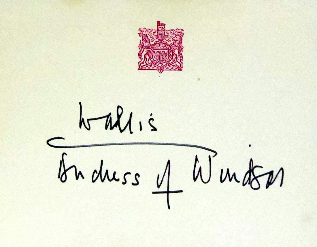 Duchess of Windsor WALIS SIMPSON - Card Signed