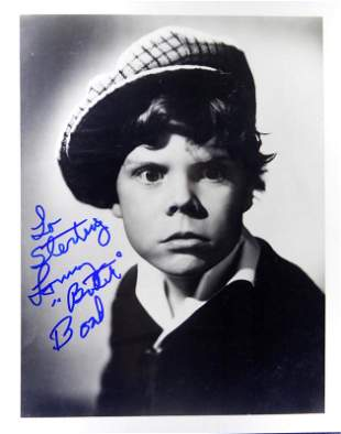 "Child Actor Tommy ""BUTCH"" BOND - Photo Signed"