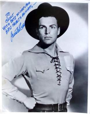 Swimmer, Actor BUSTER CRABBE - Photo Signed