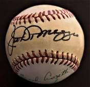 1941 Partial New York Yankee Signed Baseball