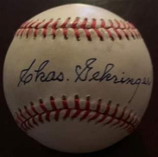 Gehringer,Charles Signed Baseball