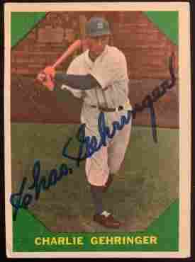 Gehringer,Charles Signed Baseball Card