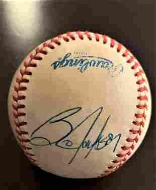 Jackson B and Brett Signed Baseball