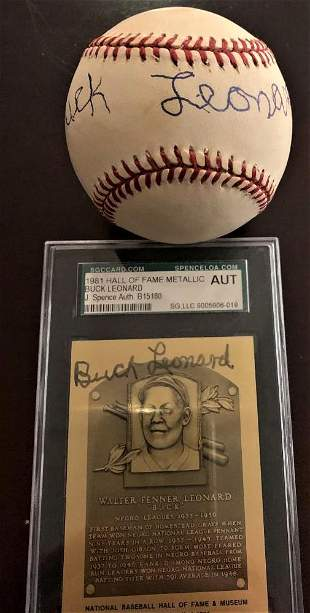 Leonard,Buck Two Signed Items