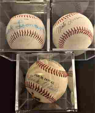 Negro Leagues Three Signed Balls