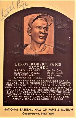 Paige,Satchel HOF Card