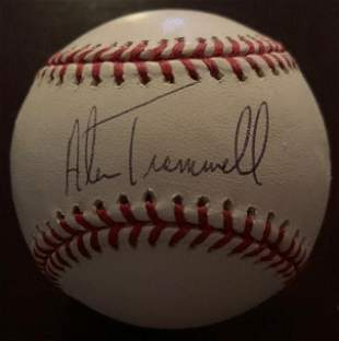 Trammell,Alan Signed Baseball