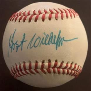 Wilhelm,Hoyt Signed Baseball