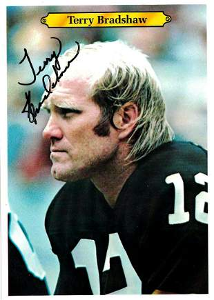 Bradshaw,Terry Signed Football Card